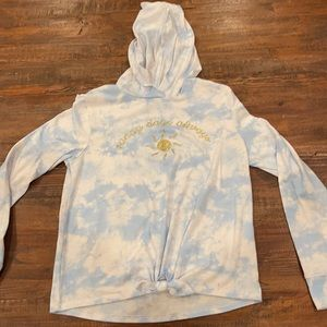 girls SO long sleeve with hood size large